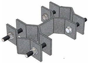 WC1002 Mounting Clamp - Medium Standoff